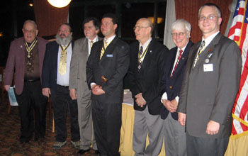 Bill Glidden, Rick Saunders, Dennis Marr, President Africa, Lew Slocum, Duane Booth and Rich Fullam - Photo: Duane Booth