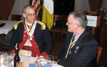 Past State and Chapter President Col. Peter K. Goebel (Ret.) with Past Chapter President Richard H. Fullam