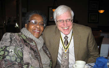 Joyce Armstrong and State Vice President - Capital Region and Past Chapter President Duane Booth