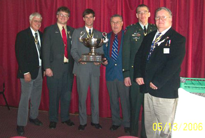 George Ballard, Sr. with Chapter officers - May 13, 2006