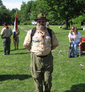 Rick Saunders, Past Chapter President, Youth Committee Chair and the recipient of the National Society's Robert E. Burke Scout Award.  Rick is a long time Scout Leader with Troop 6, in Glens Falls.  Rick, that award like the many you've earned was very well deserved!