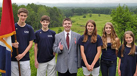 C.A.R. Schuyler Society members from left to right Nick Oxaal, Chris Oxaal, Benjamin Gallant, Elizabeth Oxaal, Cami Hren, and Alexandra Oxaal. Photo courtesy of Mary Oxaal