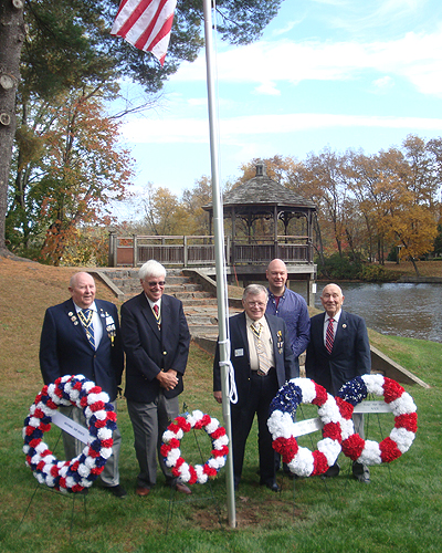 From the left - Joe Fitzpatrick, V-P Capital Region, Empire State Society - Duane Booth, President, Empire State Society - Tom Dunne, President Saratoga Battle Chapter - Daniel Franklin, Saratoga Battle Chapter - John Sheaff, President Walloomsac Battle Chapter - Photo: Thomas Dunne