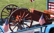 SBC Treasurer Companion's 2-Pounder; Mike built this gun and fires it at re-enactment events - Photo by Duane Booth
