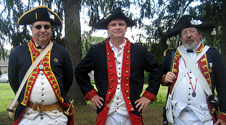 Re-enactors and SARs Bret Trufant, Mike Skelly and Pete Hormell